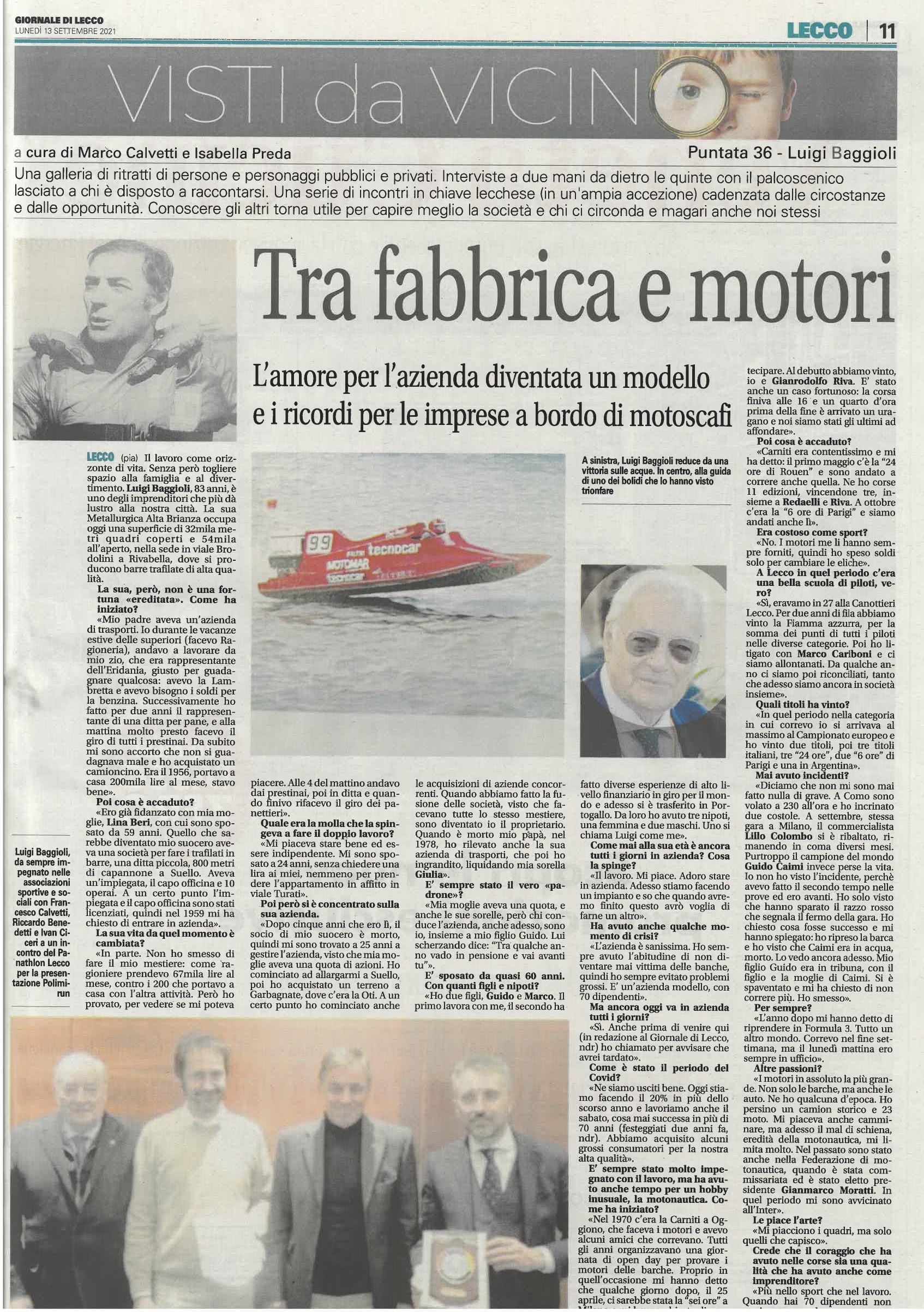 Luigi Baggioli: Tra fabbrica e motori